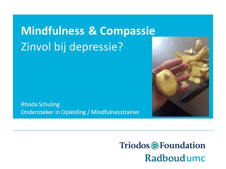 Mindfulness & Compassie Zinvol bij depressie.