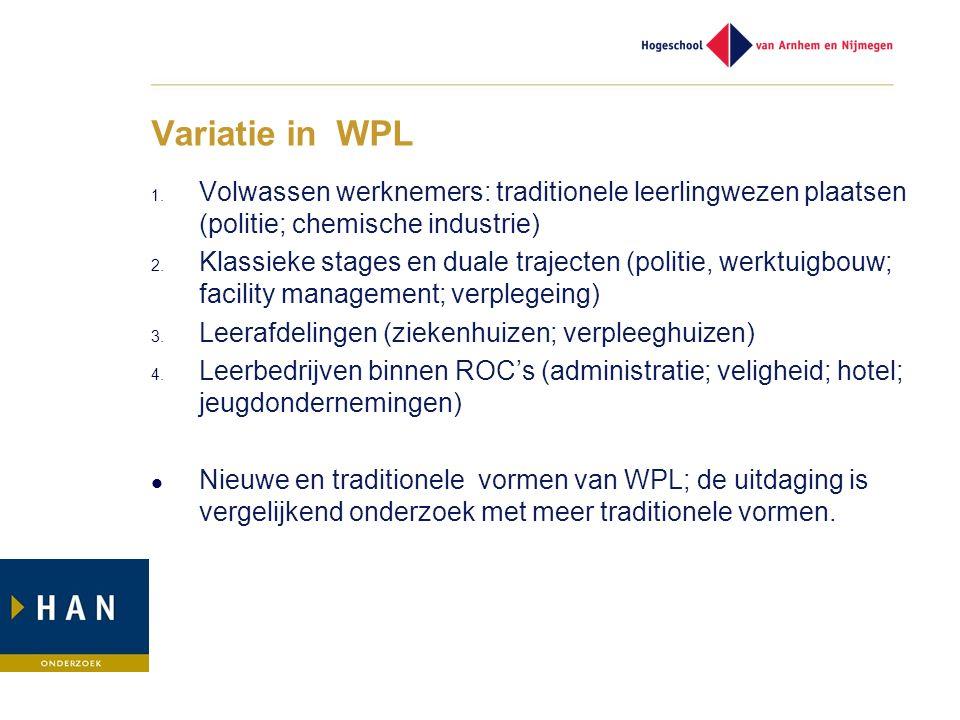 Variatie in WPL 1.