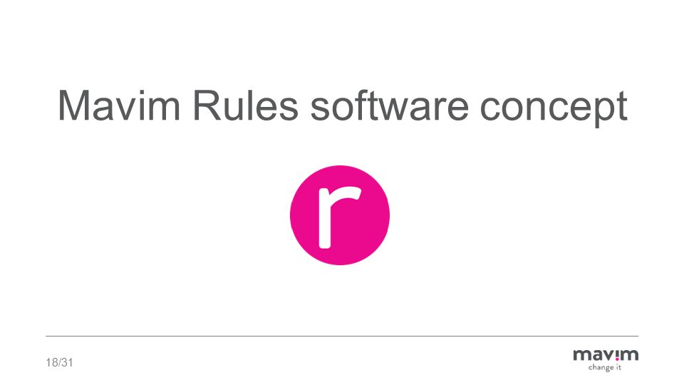 18/31 Mavim Rules software concept