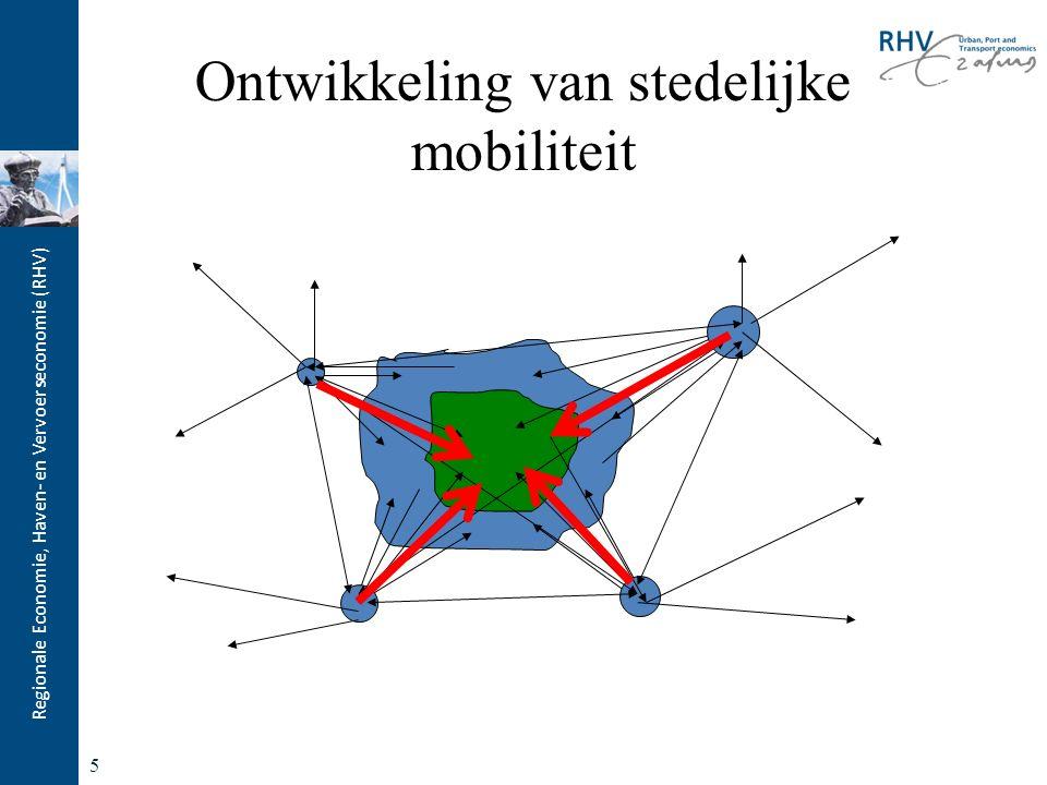 Regionale Economie, Haven- en Vervoerseconomie (RHV) 5 Ontwikkeling van stedelijke mobiliteit