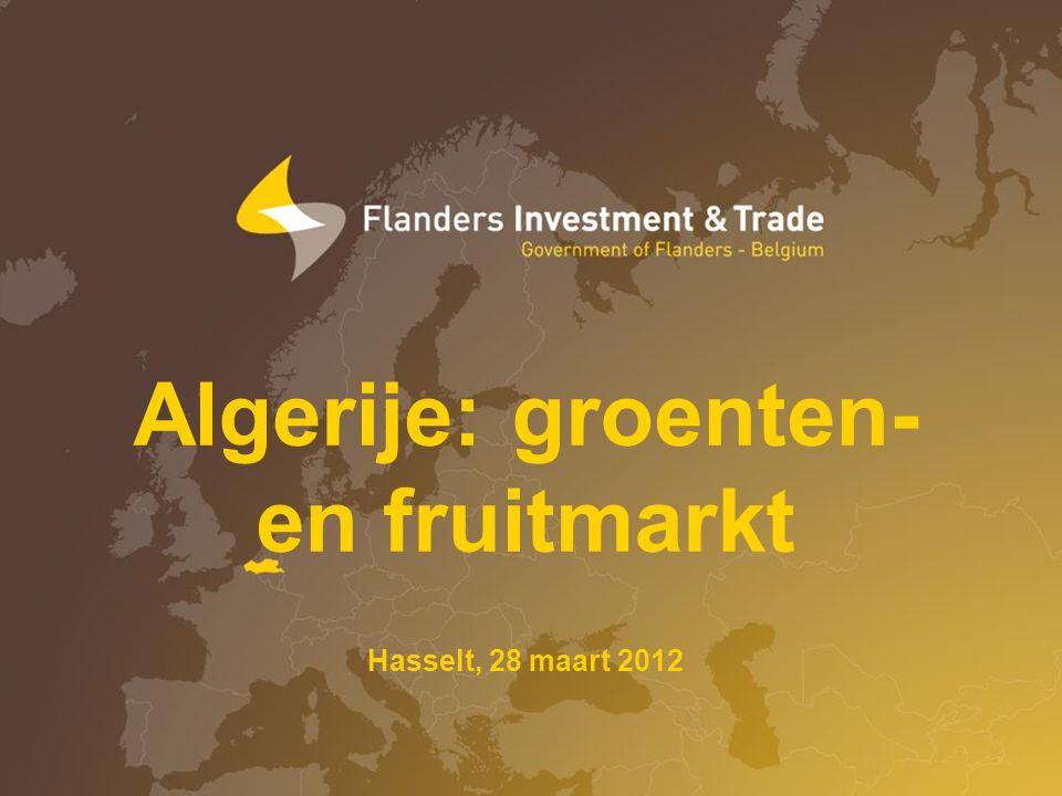 Algerije: groenten- en fruitmarkt Hasselt, 28 maart 2012