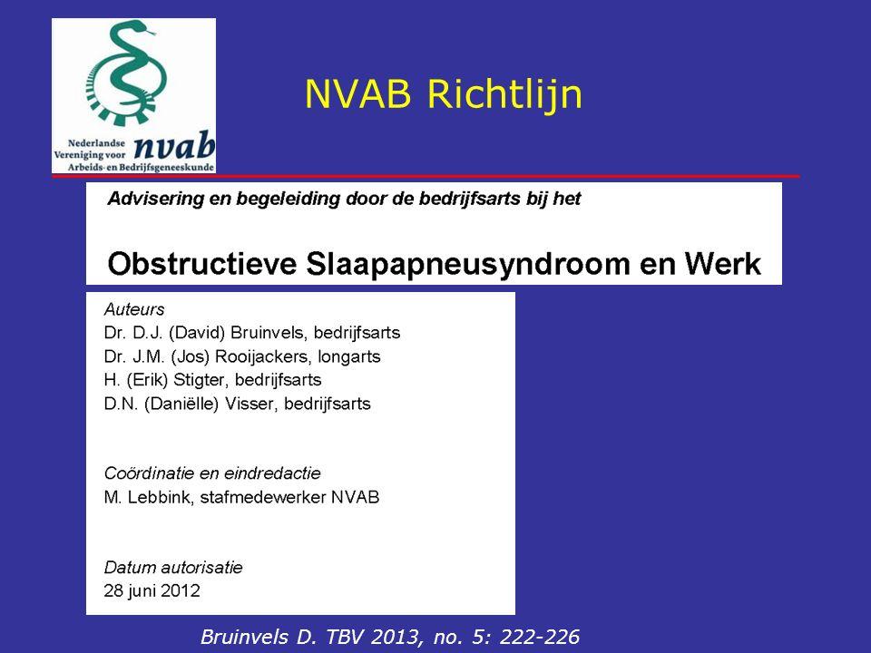 NVAB Richtlijn Bruinvels D. TBV 2013, no. 5: 222-226