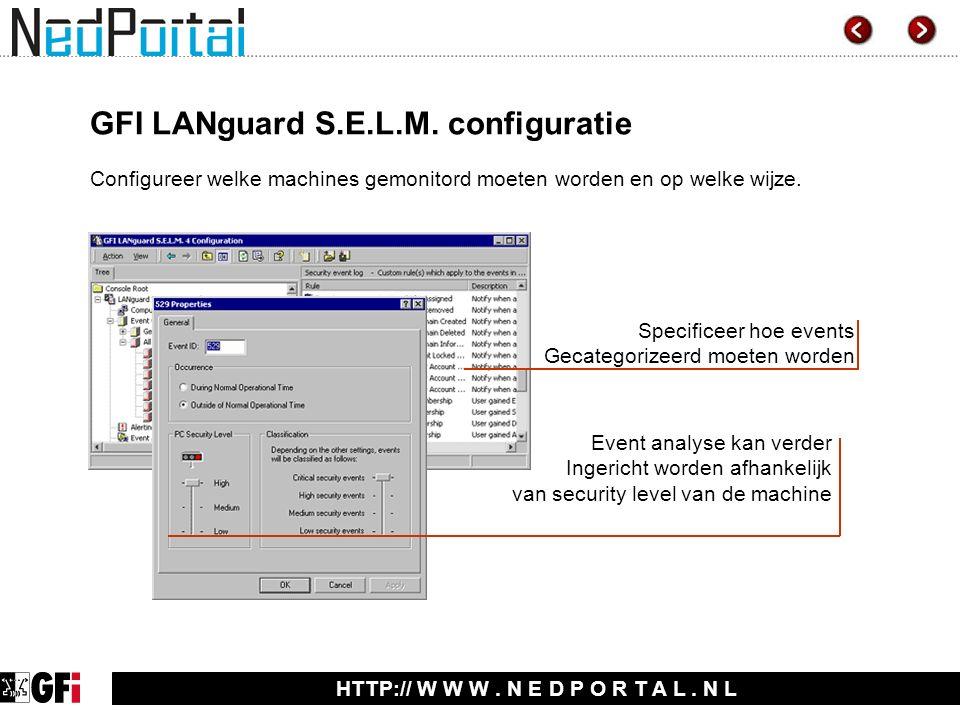 HTTP:// W W W. N E D P O R T A L. N L GFI LANguard S.E.L.M.