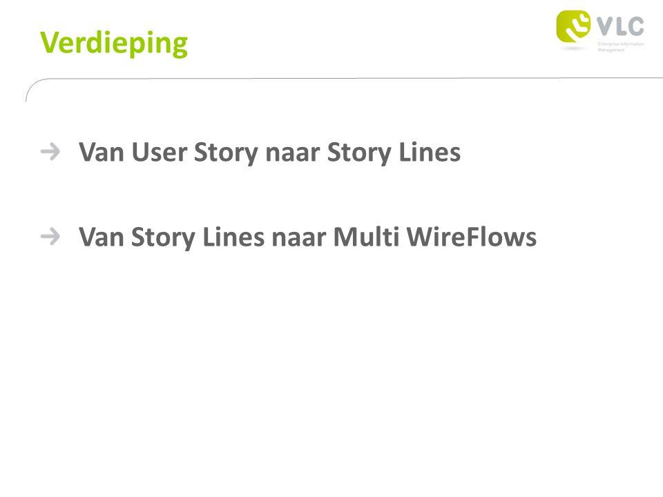Verdieping Van User Story naar Story Lines Van Story Lines naar Multi WireFlows