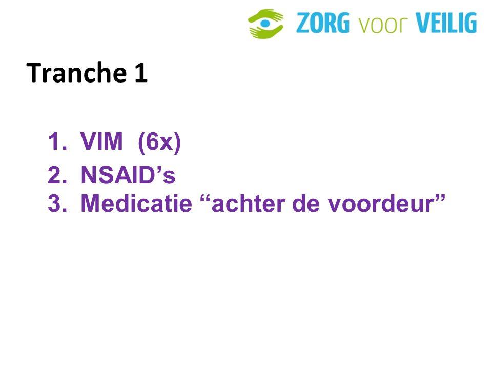 Tranche 1 1.VIM (6x) 2.NSAID's 3.Medicatie achter de voordeur