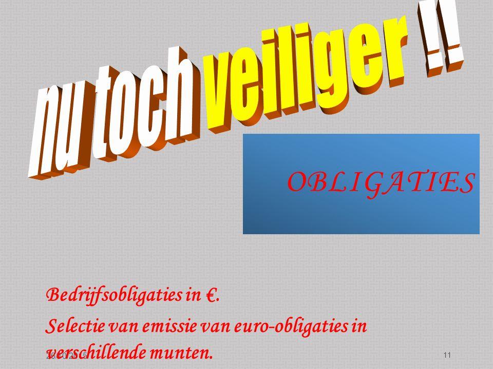 OBLIGATIE S 26/10/2015 11 Bedrijfsobligaties in €.