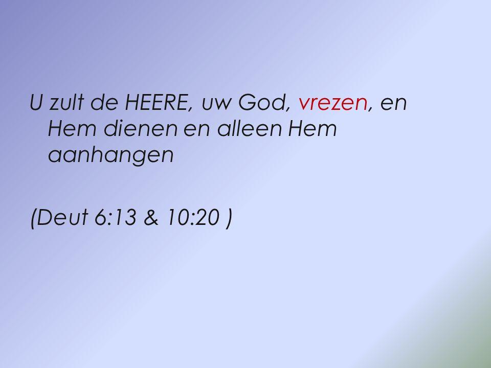 Toen zei Jezus tegen hem: Ga weg, satan, want er staat geschreven: De Heere, uw God, zult u aanbidden en Hem alleen dienen.