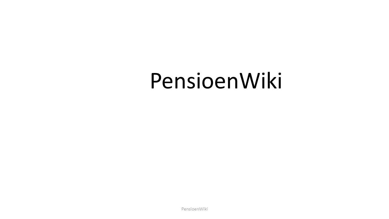 PensioenWiki