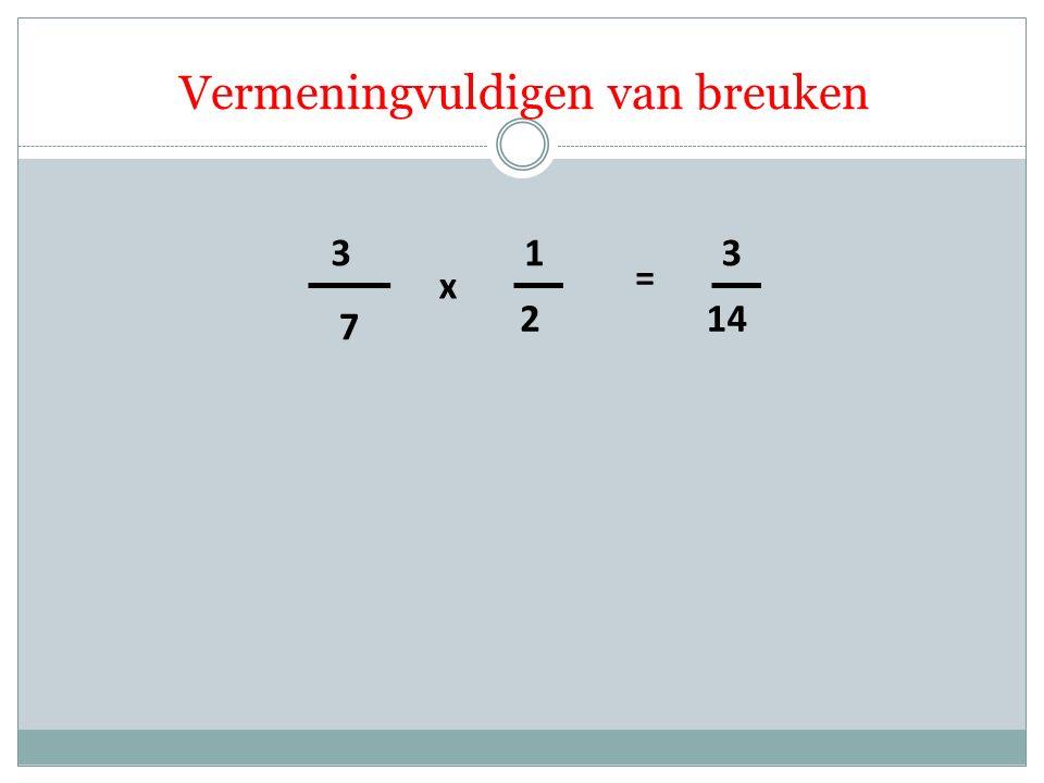7 3 2 1 x = 14 3