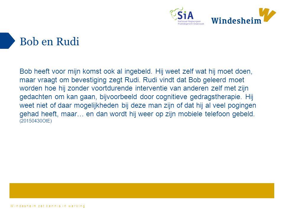 Windesheim zet kennis in werking Bob en Rudi Bob heeft voor mijn komst ook al ingebeld.