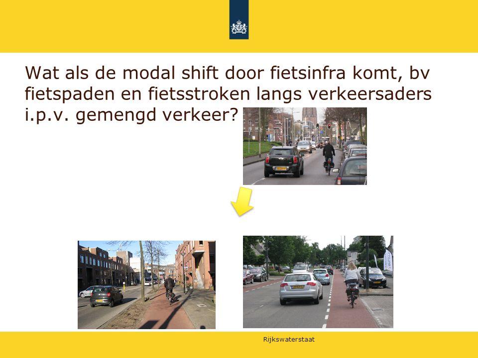 Rijkswaterstaat Wat als de modal shift door fietsinfra komt, bv fietspaden en fietsstroken langs verkeersaders i.p.v. gemengd verkeer?