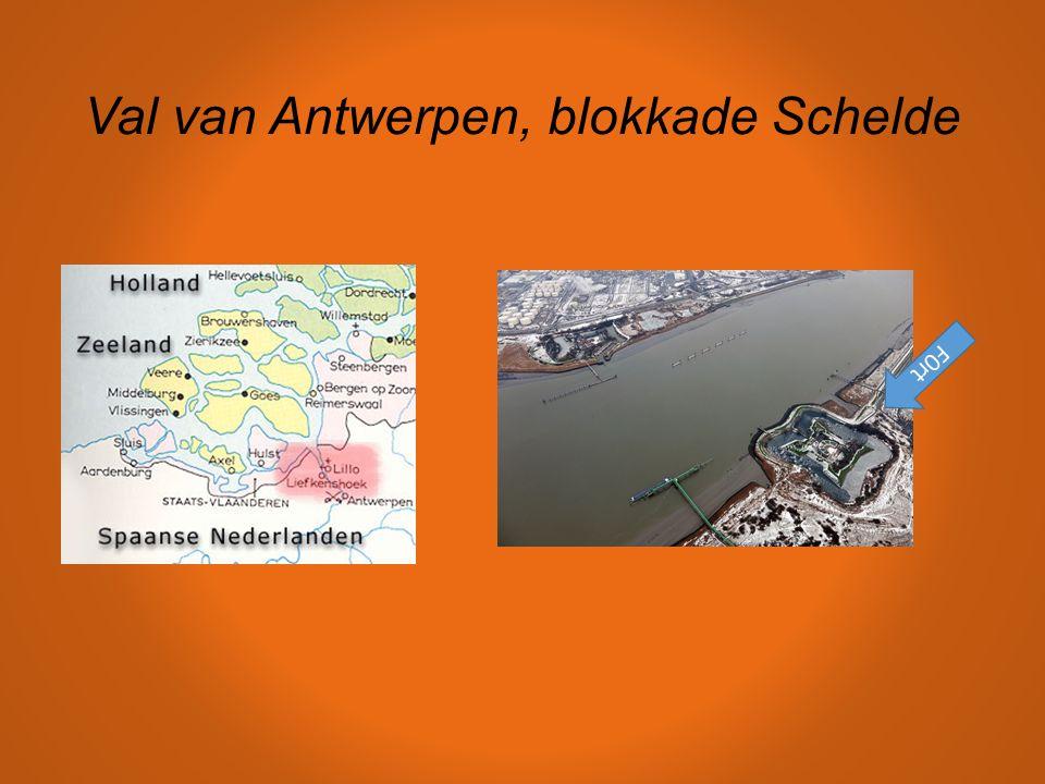 Val van Antwerpen, blokkade Schelde F0rt