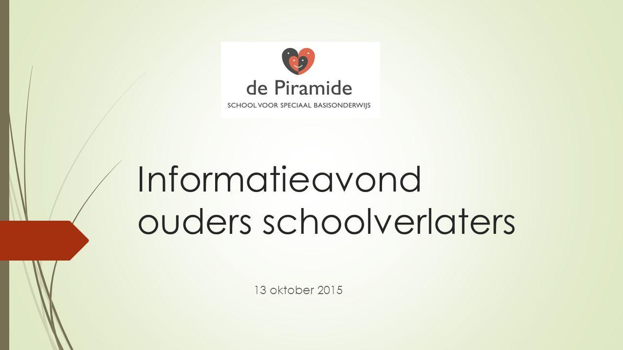 Informatieavond ouders schoolverlaters 13 oktober 2015