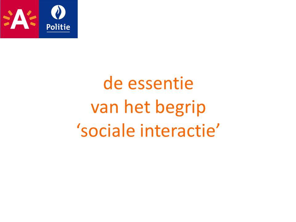 de essentie van het begrip 'sociale interactie'