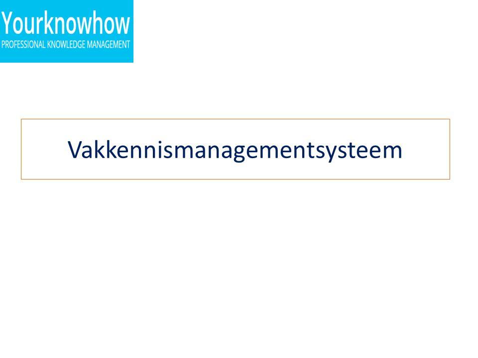Vakkennismanagementsysteem