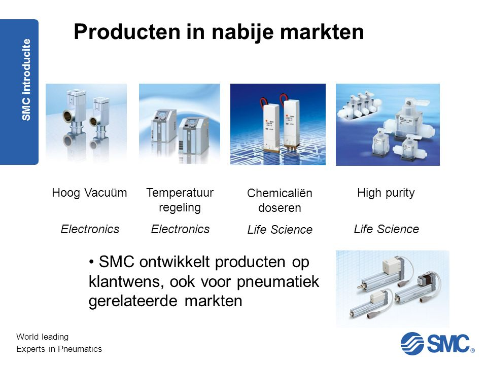 World leading Experts in Pneumatics 1.