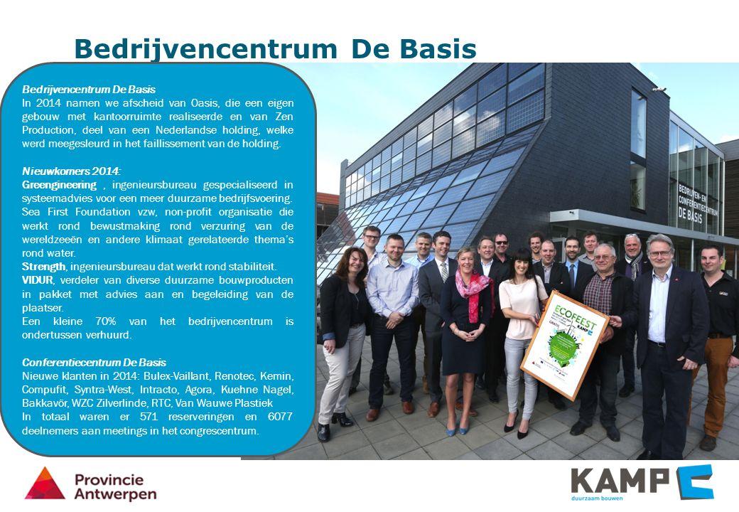 Bedrijvencentrum De Basis In 2014 namen we afscheid van Oasis, die een eigen gebouw met kantoorruimte realiseerde en van Zen Production, deel van een Nederlandse holding, welke werd meegesleurd in het faillissement van de holding.