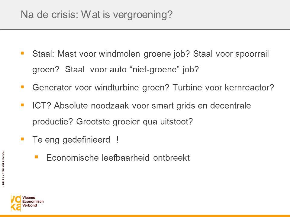 Voka werking energie en milieu 7 Na de crisis: Wat is vergroening.