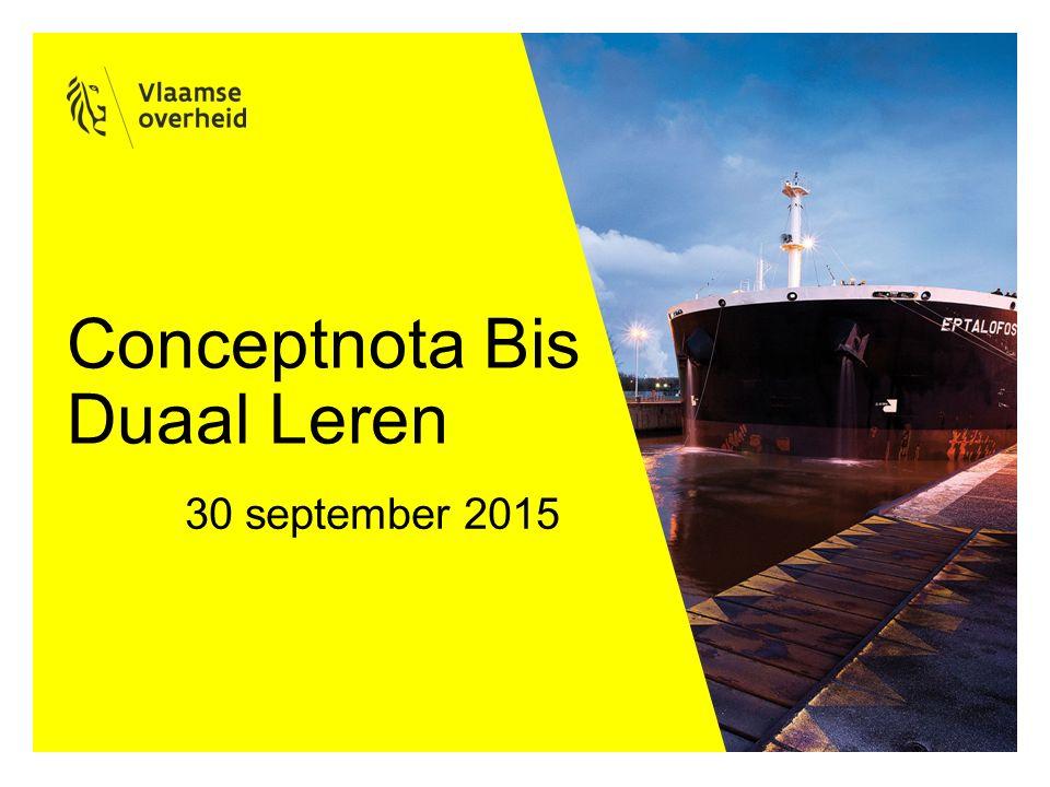 Conceptnota Bis Duaal Leren 30 september 2015