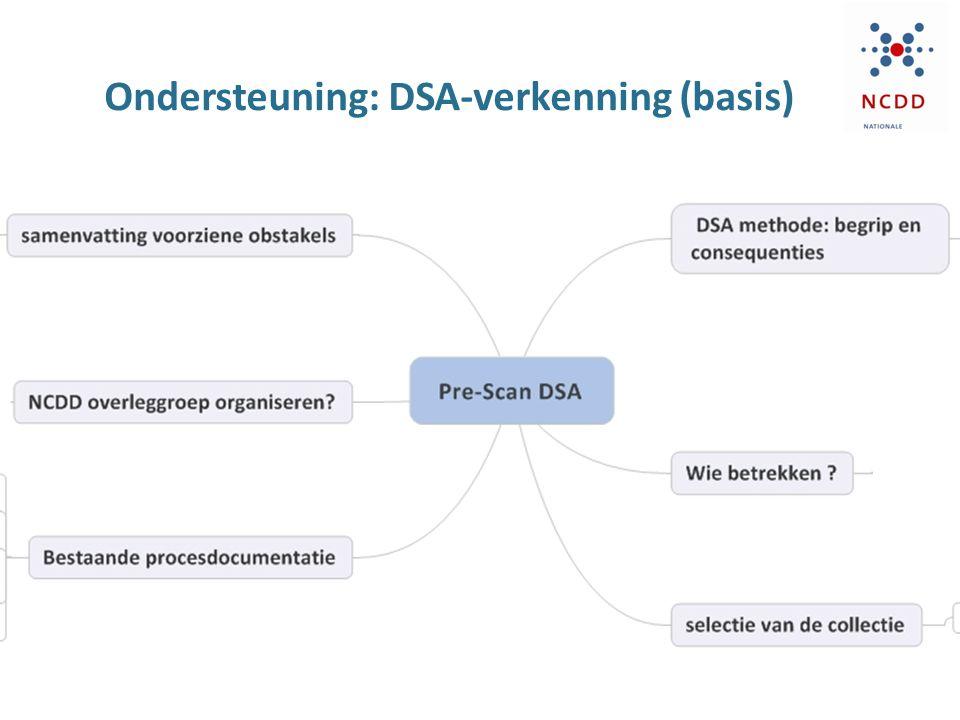 Ondersteuning: DSA-verkenning (basis) Inhoud van deze slide