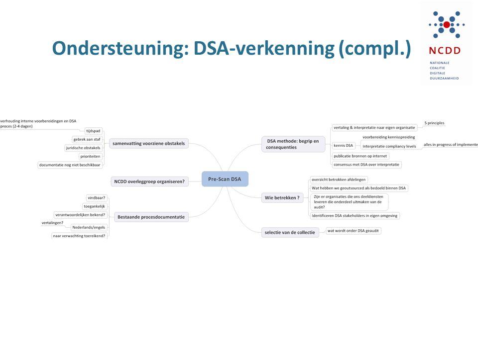Ondersteuning: DSA-verkenning (compl.)