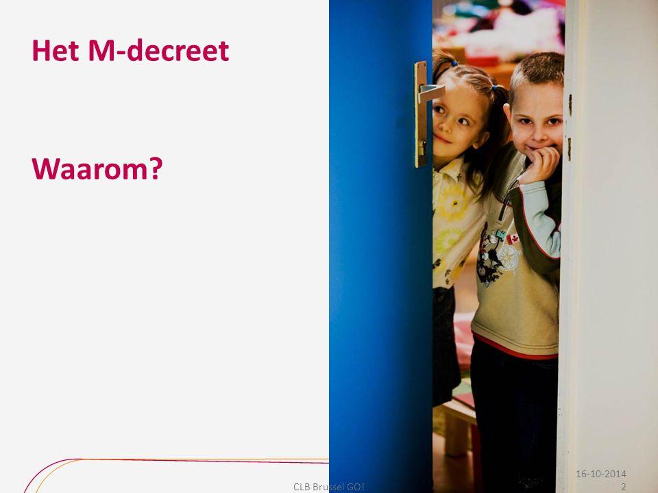 Besluit M: aanzet tot… Vóór M-decreet: problemen beoordelen voornamelijk op basis van de stoornisgebonden typologie  focus te eenzijdig op de stoornissen en problemen bij de leerlingen.