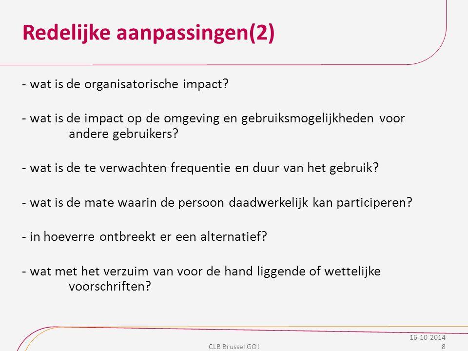Overzicht organisatie buitengewoon secundair onderwijs CLB Brussel GO.