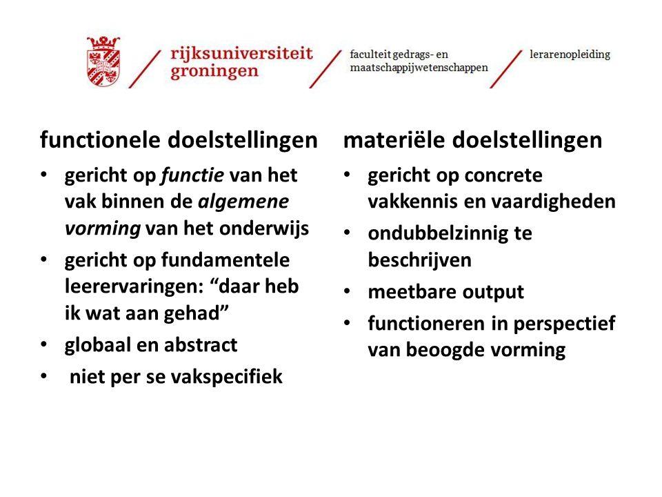 Bedoeling van onze workshop: Handreiking: hoe breng je de vormingsdoelen van ons onderwijs dichterbij.