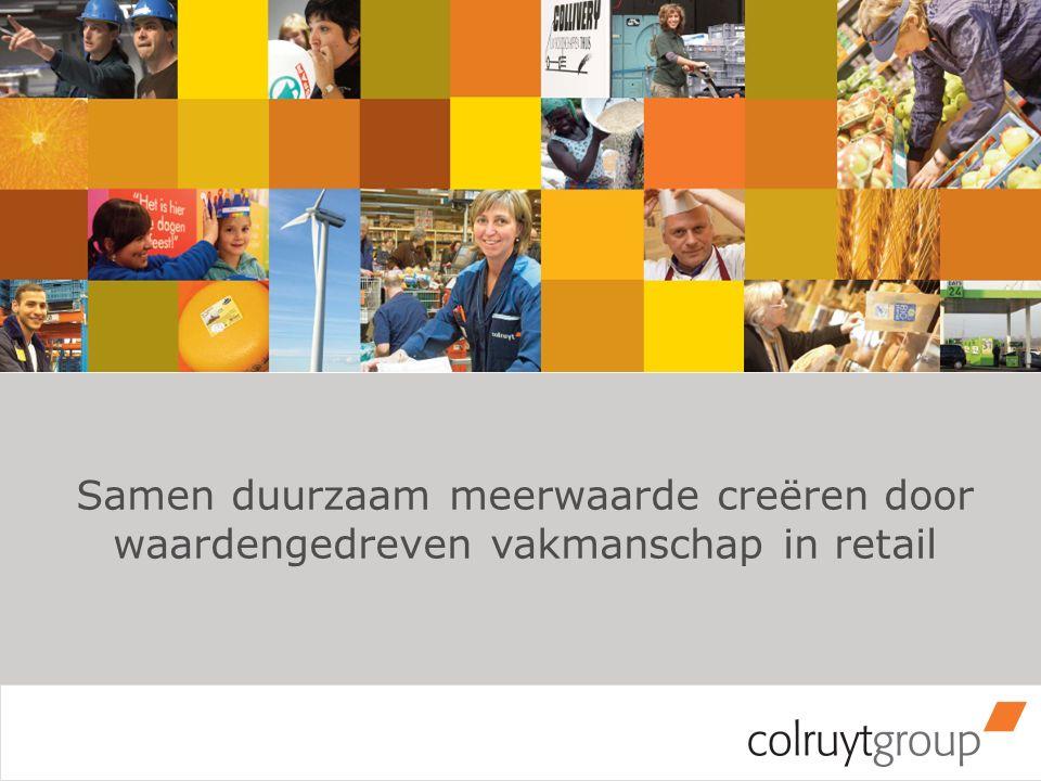 Onze missie Samen duurzaam meerwaarde creëren door waardengedreven vakmanschap in retail