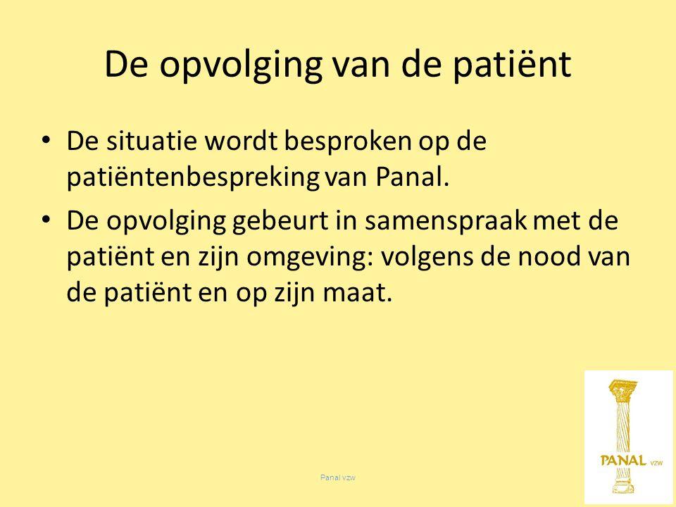 Panal vzw De situatie wordt besproken op de patiëntenbespreking van Panal.