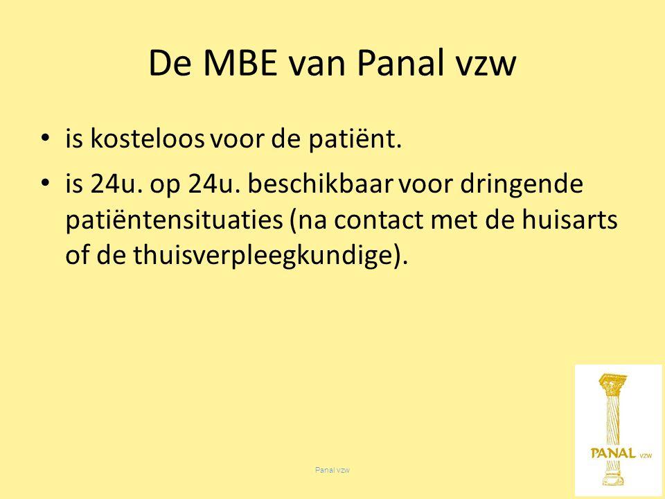 Panal vzw is kosteloos voor de patiënt. is 24u. op 24u.