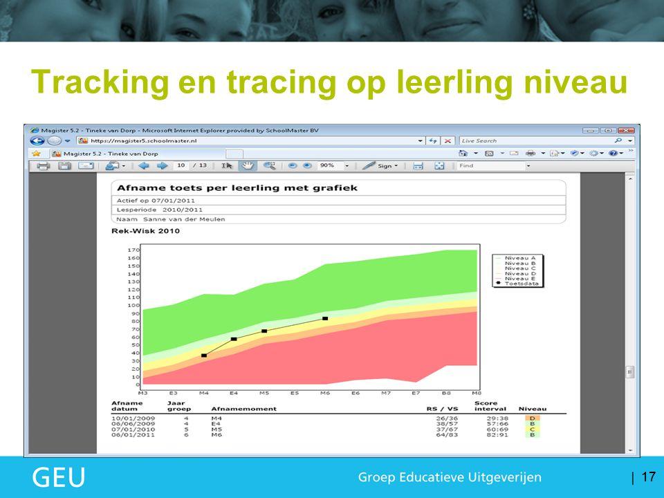 17 Tracking en tracing op leerling niveau 17