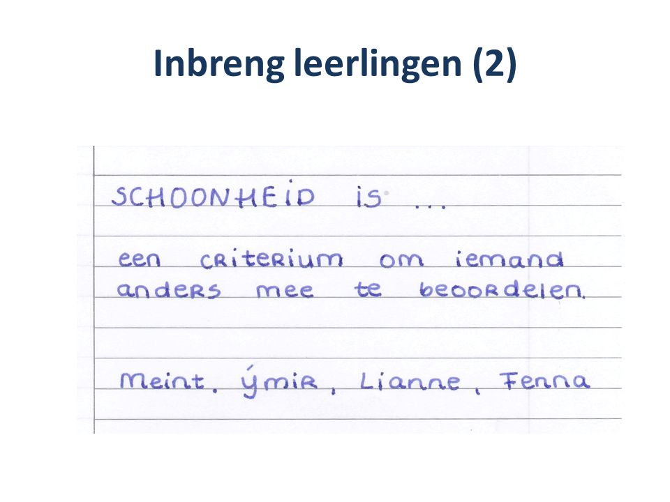 Inbreng leerlingen (2)