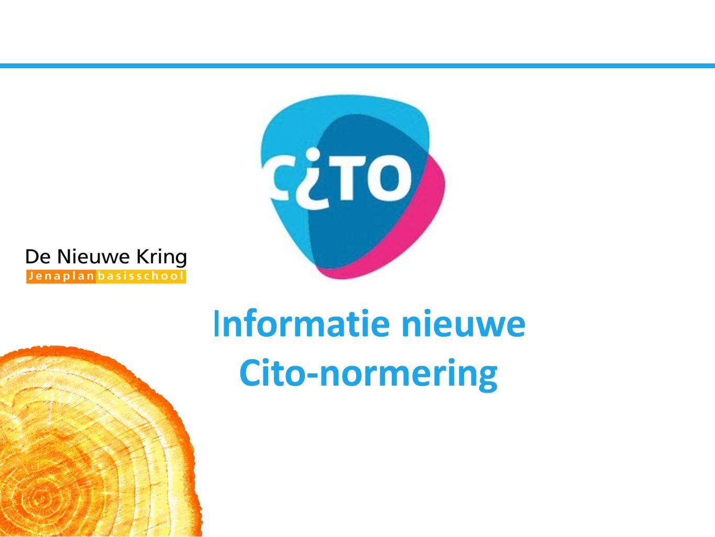 Informatie nieuwe Cito-normering
