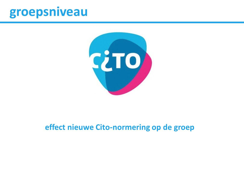 groepsniveau effect nieuwe Cito-normering op de groep