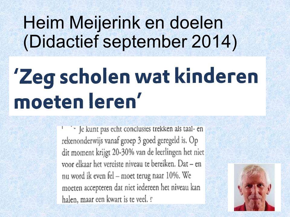 Heim Meijerink en doelen (Didactief september 2014)
