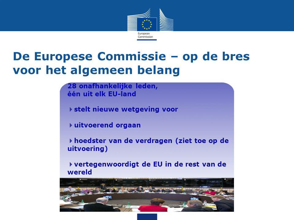 De Europese Commissie – op de bres voor het algemeen belang 28 onafhankelijke leden, één uit elk EU-land  stelt nieuwe wetgeving voor  uitvoerend or