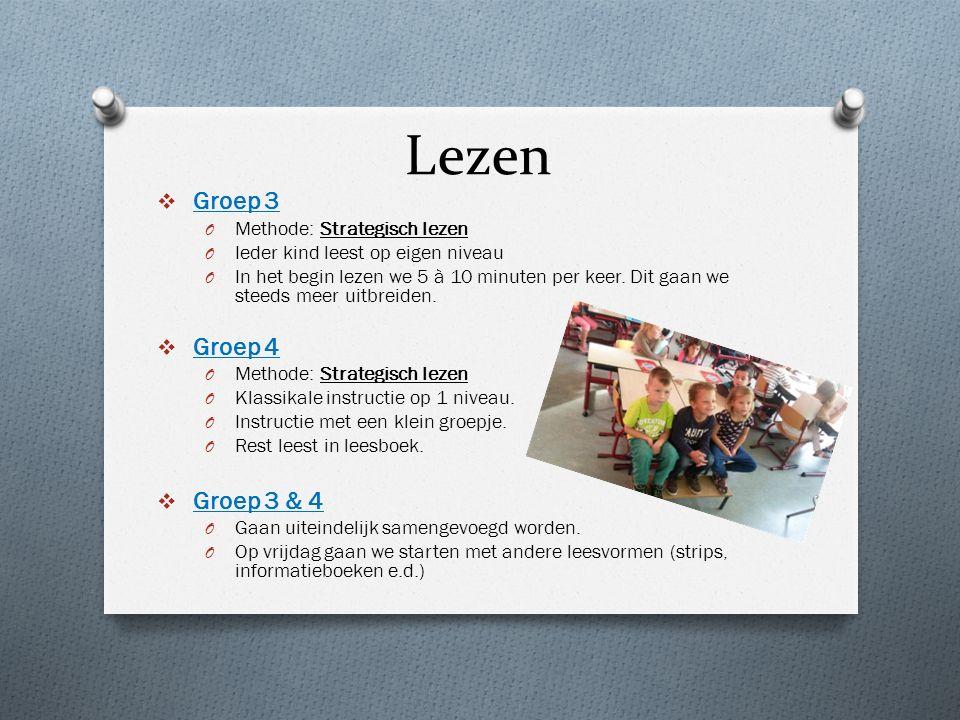 Lezen  Groep 3 O Methode: Strategisch lezen O Ieder kind leest op eigen niveau O In het begin lezen we 5 à 10 minuten per keer.