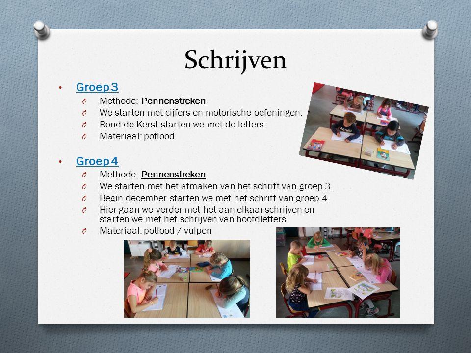 Schrijven Groep 3 O Methode: Pennenstreken O We starten met cijfers en motorische oefeningen.