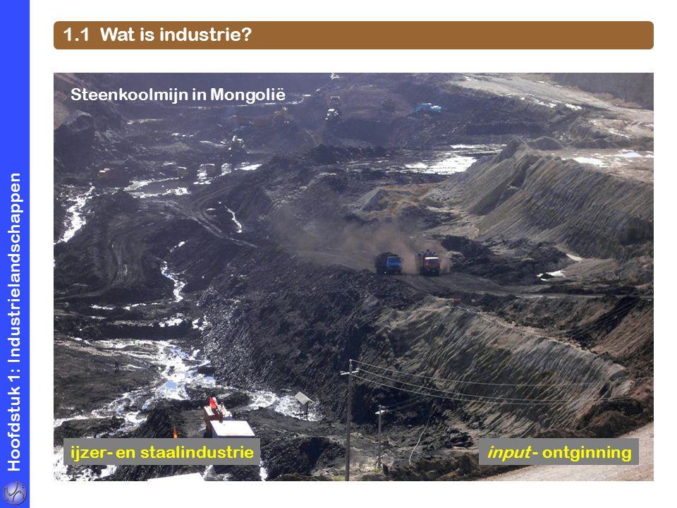 Hoofdstuk 1: Industrielandschappen 1.1 Wat is industrie? voedingsindustrieinput