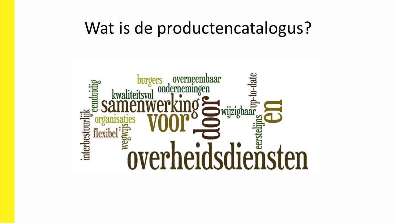 Wat is de productencatalogus?