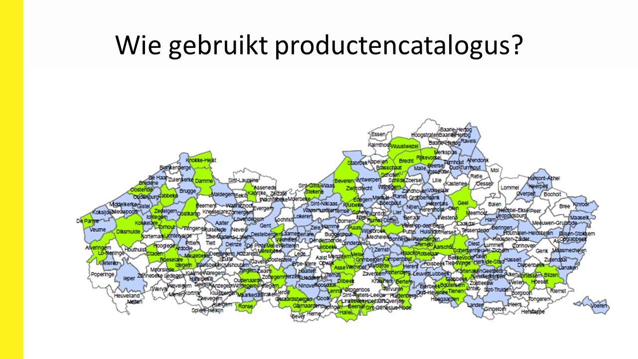 Wie gebruikt productencatalogus?