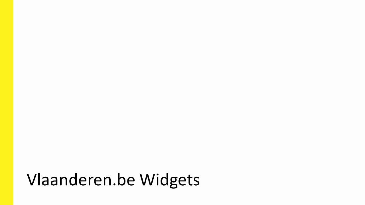 Vlaanderen.be Widgets
