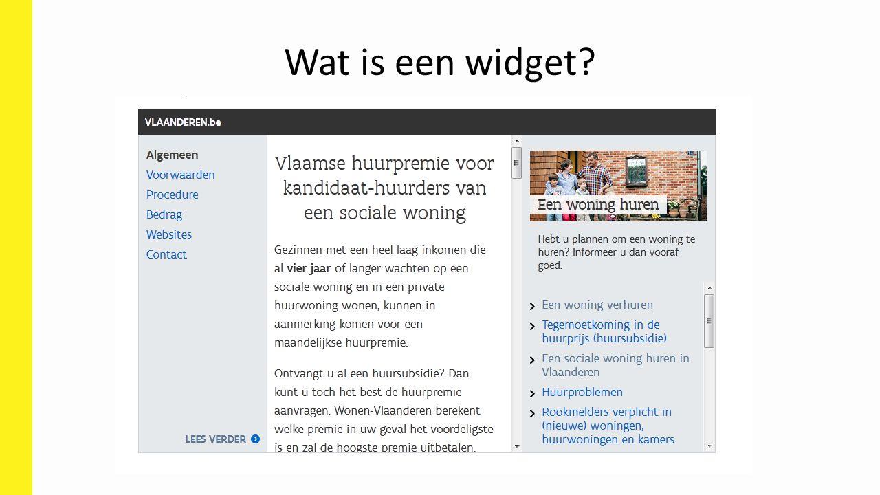 Wat is een widget?