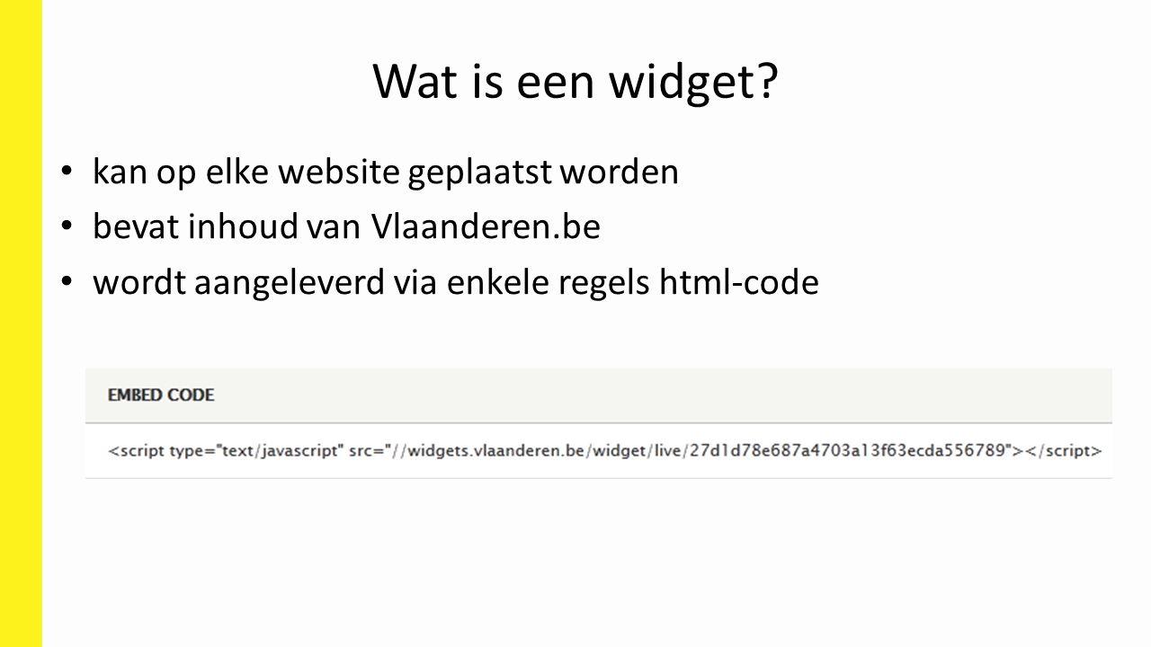 kan op elke website geplaatst worden bevat inhoud van Vlaanderen.be wordt aangeleverd via enkele regels html-code