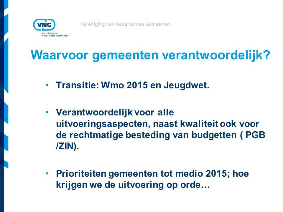 Vereniging van Nederlandse Gemeenten VNG behoeftepeiling I