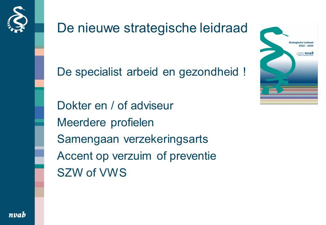 De nieuwe strategische leidraad De specialist arbeid en gezondheid .