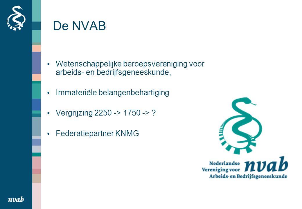 De NVAB Wetenschappelijke beroepsvereniging voor arbeids- en bedrijfsgeneeskunde, Immateriële belangenbehartiging Vergrijzing 2250 -> 1750 -> .