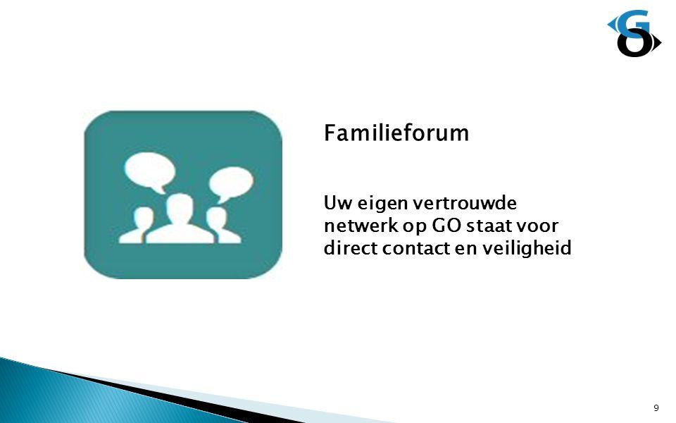 Familieforum Uw eigen vertrouwde netwerk op GO staat voor direct contact en veiligheid 9
