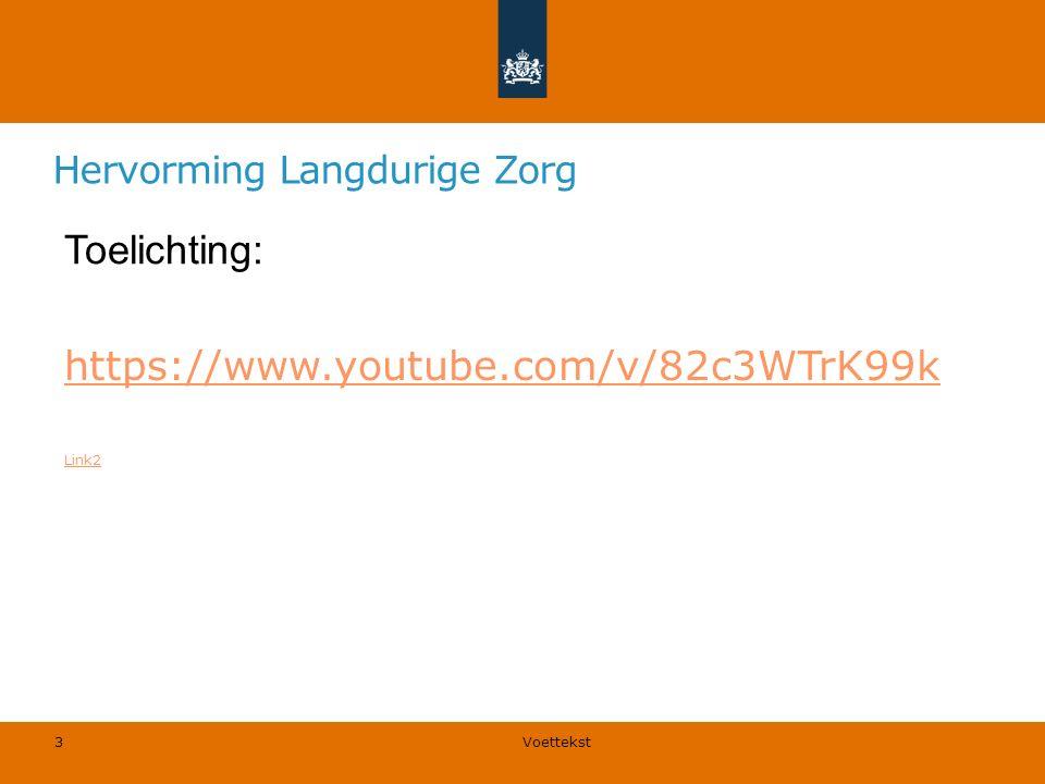 Hervorming Langdurige Zorg Langdurige zorg (care) en onverzekerbare medische risico's.